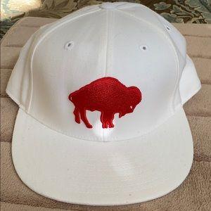 Standing Buffalo Bills flat brimmed hat